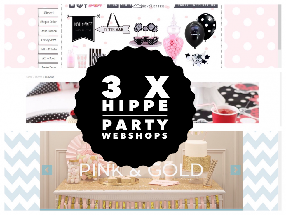 3 x hippe party webshops